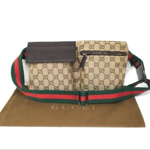 Authentic Gucci brown waist bag fanny pack bum bag